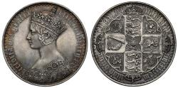 Ancient Coins - Victoria 1847 Gothic Crown