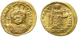 Ancient Coins - Maurice Tiberius, Gold Solidus