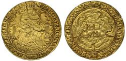 World Coins - James I Rose-Ryal of Thirty Shillings second coinage initial mark Tower (1612-13)