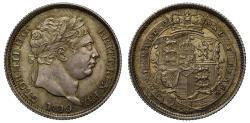 World Coins - George III 1819 Shilling 9 over 8