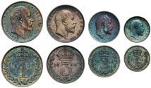 World Coins - Edward VII 1906 Maundy Set, in original case