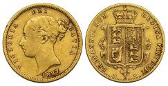 World Coins - Victoria 1887 Half-Sovereign Melbourne Young Head, low mintage, very rare