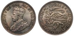 World Coins - Cyprus, George V 1928 45-Piastres MS64