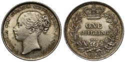 World Coins - Victoria 1839 Shilling, second young head