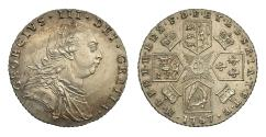 World Coins - George III 1787 Sixpence, without semée of hearts