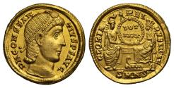Ancient Coins - Constantius II, Gold Solidus, Mint of Nicomedia