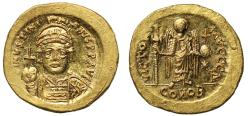 Ancient Coins - Justinian, Gold Solidus