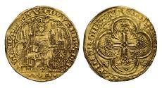 Ancient Coins - Edward III gold Ecu d'Or Bordeaux mint