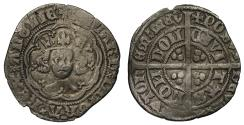 World Coins - Richard II Halfgroat, London, type II with three pellets by crown fleur