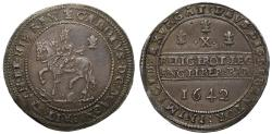 World Coins - Charles I 1642 silver Half-pound, Oxford mint