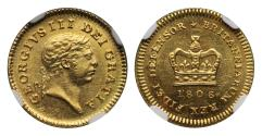 World Coins - George III 1806 Third-Guinea MS63