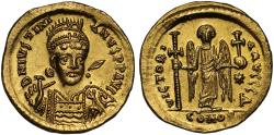 Ancient Coins - Justinian I gold Solidus, Constantinople