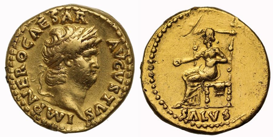 Ancient Coins - Nero, Gold Aureus