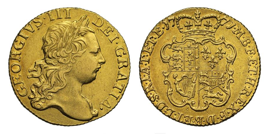 World Coins - George III 1771 Guinea, third bust