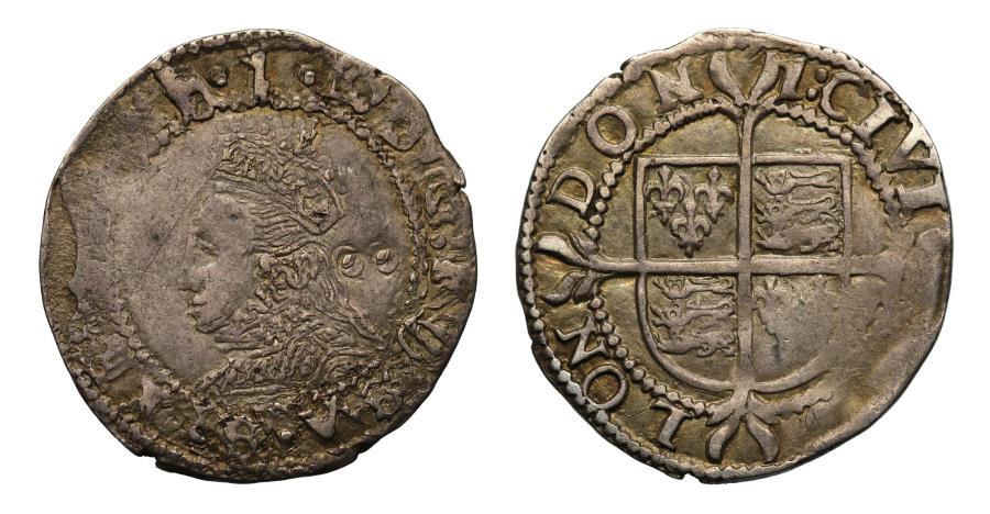 World Coins - Elizabeth I Halfgroat mintmark 1