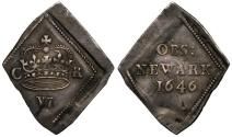 World Coins - Charles I 1646 Newark Siege Sixpence
