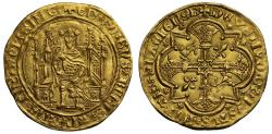 World Coins - Anglo-Gallic, Edward the Black Prince Chaise d'Or, Bordeaux