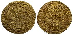 World Coins - Edward III Half-Noble, Transitional Treaty Period