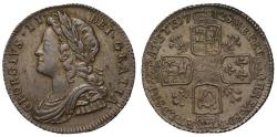 World Coins - George II 1728 Sixpence, plumes reverse, young head