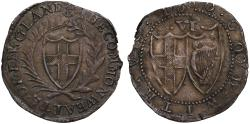 World Coins - Commonwealth 1660 Sixpence initial mark anchor, reverse reads GOOD