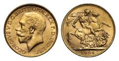 World Coins - George V 1926 P Sovereign Perth mint, rare