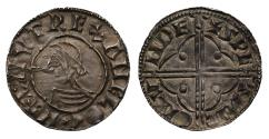 World Coins - Canute Quatrefoil Penny, very rare diademed bust, Swetinc of London
