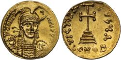 Ancient Coins - Constantine IV gold Solidus, Constantinople