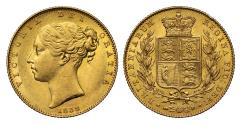 World Coins - Victoria 1838 Sovereign, first date of the reign AU58