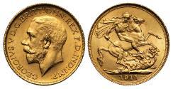 World Coins - George V 1911 S Sovereign