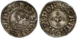World Coins - Aethelred II Penny Thetford Mint moneyer Edric, 4 extra cross reverse