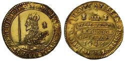 World Coins - Charles I 1643 Triple Unite, Oxford Mint dies VI/S6