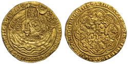 "World Coins - Edward III gold Noble No REX in legend - ""Kingless"" Noble, very rare"