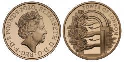Ancient Coins - Elizabeth II 2020 PF70 UCAM Five-Pounds Menagerie