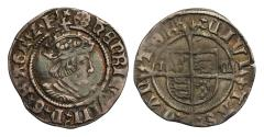 World Coins - Henry VIII Halfgroat, second coinage, Canterbury, Archbishop Cranmer