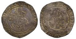World Coins - Charles I Halfcrown, Tower Under Parliament, mm eye, unusual legends