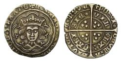 World Coins - Henry VI Groat, Calais Mint, Rosette Mascle Issue