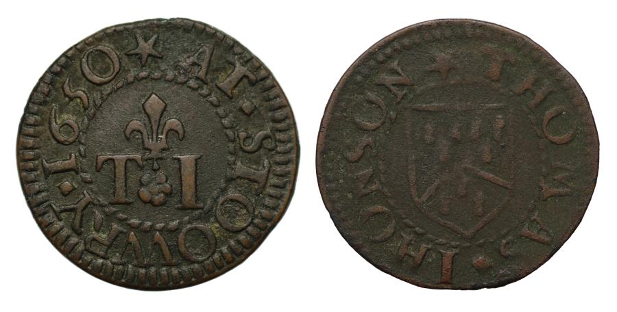 World Coins - Thomas Johnson, Sturry, Kent, 1650 Token