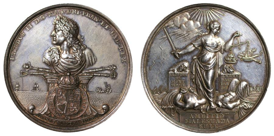 World Coins - Dukes of Monmouth and Argyle beheaded, 1685.