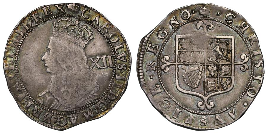 World Coins - Charles II Shilling, third Hammered Issue, no stops at obverse mint mark