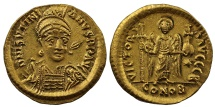Justinian I, Gold Solidus