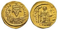 Ancient Coins - Focas, Gold Solidus, Mint of Constantinople