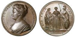 World Coins - Queen Caroline, Coronation, 1727.