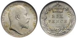 World Coins - Edward VII 1907 Sixpence MS63