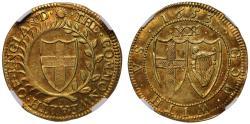World Coins - Commonwealth 1653 Unite AU58