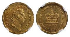 World Coins - George III 1803 Third-Guinea MS63 NGC