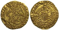 World Coins - Edward IV (2nd reign) gold Angel, Tower mint, ex Archbishop Sharp