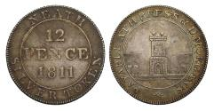 World Coins - 19th century silver token, Wales, Neath Shilling, 1811, Rees and Morgan