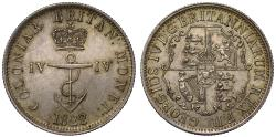 World Coins - British West Indies, George III, 1822, 1/4-Dollar.