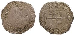 World Coins - Charles I Sixpence Tower mint, initial mark anchor, group E, 5th bust