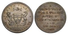 World Coins - 9th century silver token, Somerset, Bath four Shillings, 1811, Dore & Whitchurch